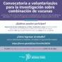 Convocan a participar de un estudio de combinación de vacunas contra el coronavirus