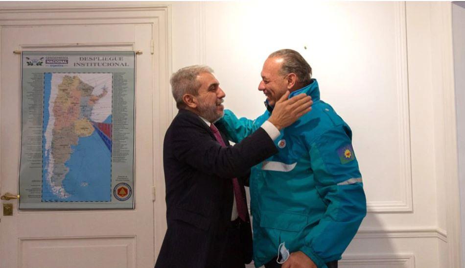 """Berni se reunió con Aníbal Fernández y envió un mensaje a Fréderic: """"Nos juntamos dos que entendemos de lo que hablamos"""""""