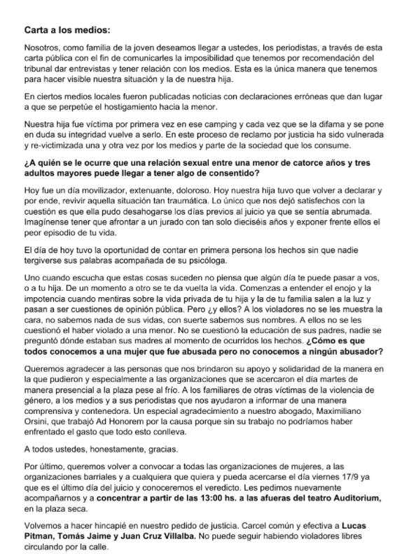 """Declaran """"no culpables"""" a tres jóvenes acusados a abusar sexulamente de una joven en Miramar"""