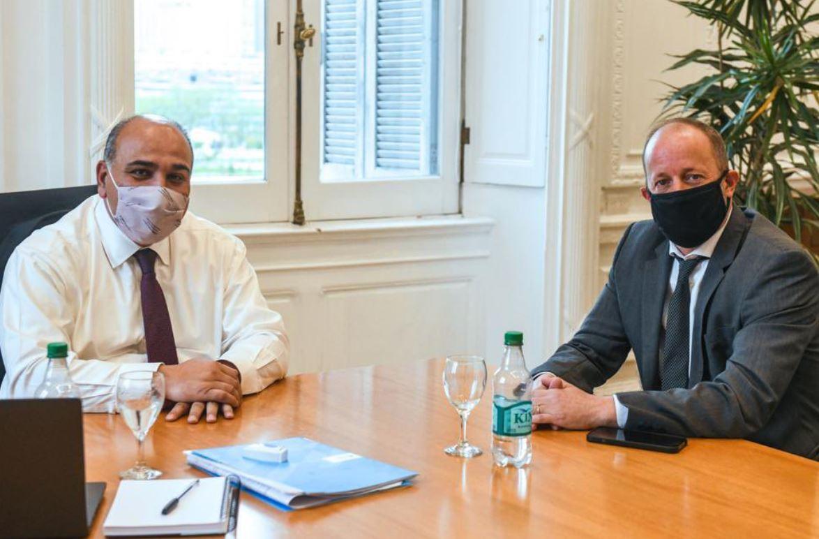 Juan Manzur se reunió con Martín Insaurralde en la Casa Rosada