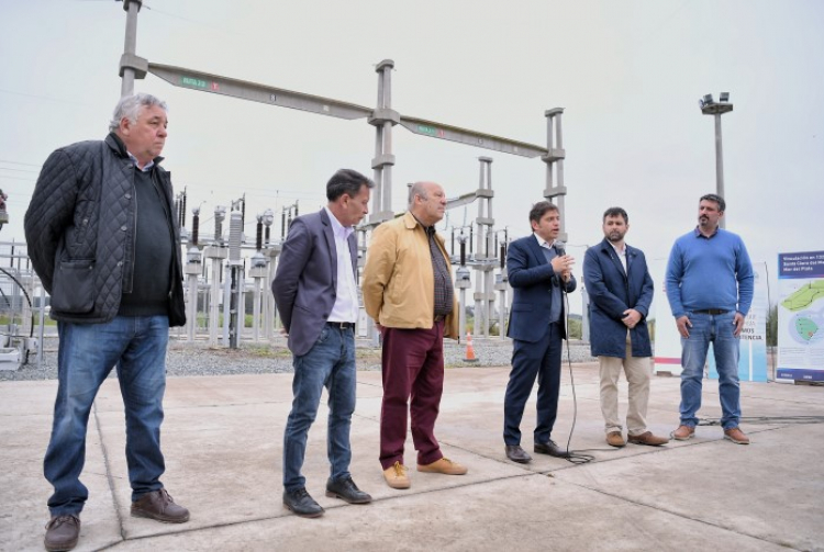 Ponen en funcionamiento una línea de alta tensión entre Santa Clara y Mar del Plata